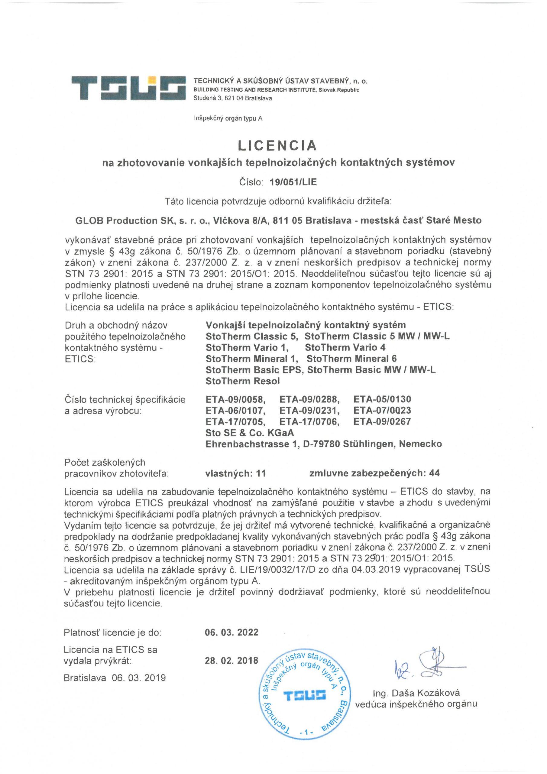 TSUS - Licencia STO
