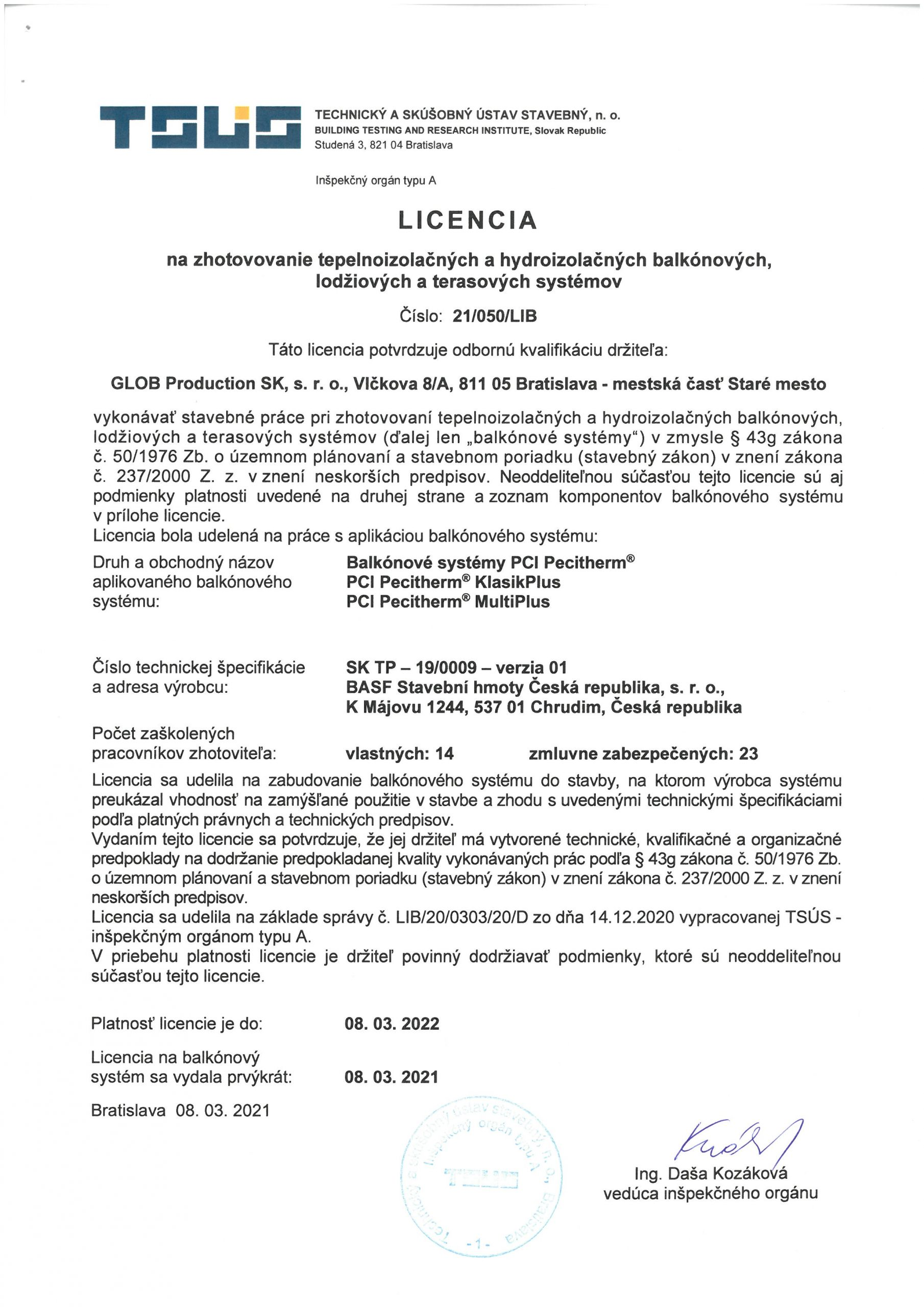 TSUS - Licencia PCI Pecitherm
